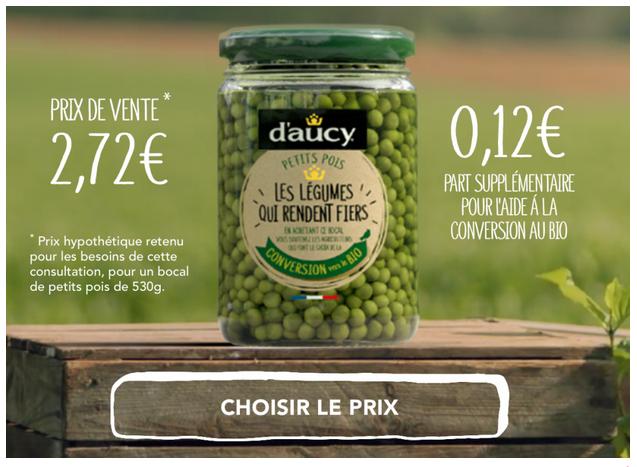 """<b>D'AUCY, Une gamme de légumes """"en conversion"""" au bio</b>"""