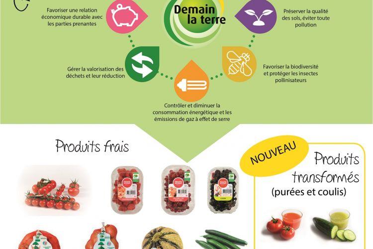 <b>DEMAIN LA TERRE Fruits et légumes responsables</b>