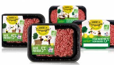 <b>SOURIRES DE CAMPAGNE, La première marque viande de bœuf 100% bio</b>